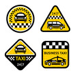 Taxi - set four stickers