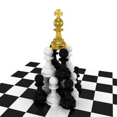 Pyramid MLM. 3d render