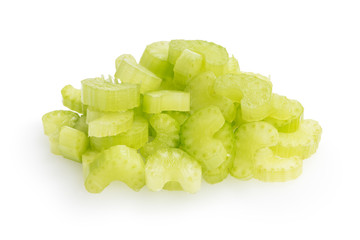 heap of sliced celery