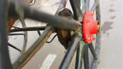 Old coach wheel