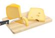 Käse wird abgeschnitten
