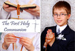 collage with the first holy communion