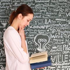 junges Mädchen liest