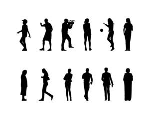 many black silhouettes