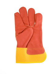 Red protective gloves. Clipping path included