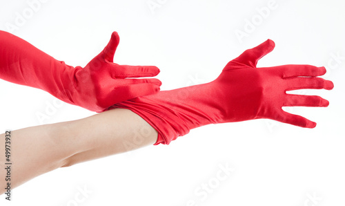 red women's gloves