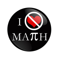 I Hate Math button