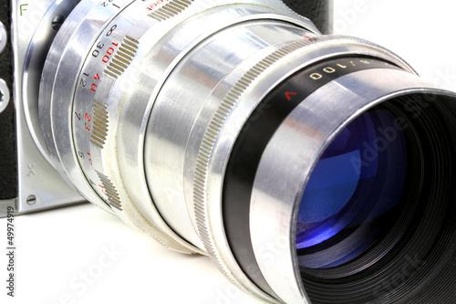 Objektiv an alter Kamera