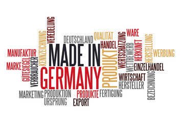 Made in Germany Wort-Wolke