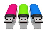 drei USB-Sticks