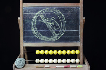 gun ban sketch on chalkboard