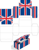 Rectangular vector box United Kingdom flag