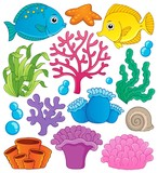 Coral reef theme collection 1