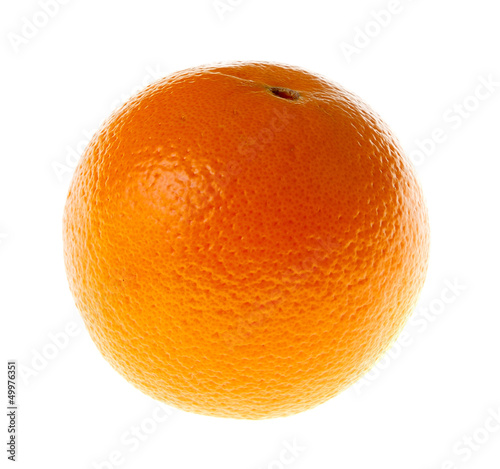 Single Orange Isolated on White