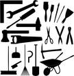 Werkzeug Set Silhouette