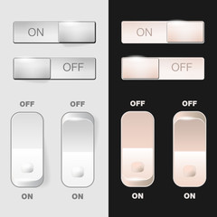 "Set of ""ON-OFF"" switch buttons"