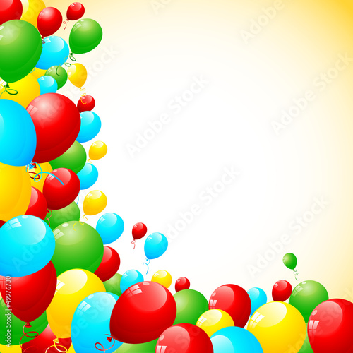 vector illustration of of bunch of colorful balloon