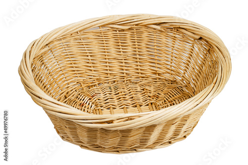 basket on the white background