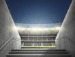 Stadion mit Blick aus Durchgang