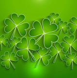St. Patrick's Day green bright colorful background presentation