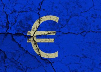 Cracked Euro symbol