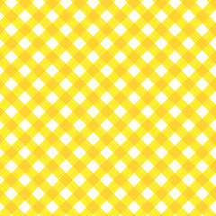 Yellow gingham fabric cloth, seamless pattern included