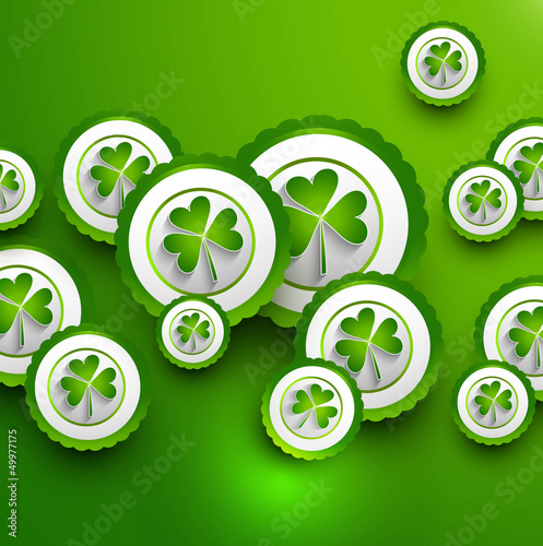 St. Patrick's Day icon green colorful presentation Vector backgr