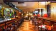 Leinwanddruck Bild - Pub interior
