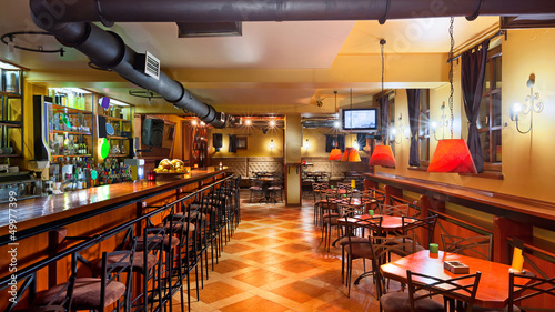 Wnętrze pubu