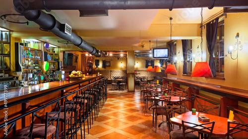 Leinwanddruck Bild Pub interior