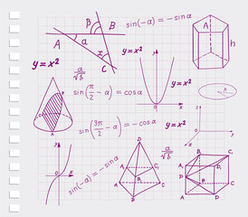 Mathematics - geometric shapes  sketches