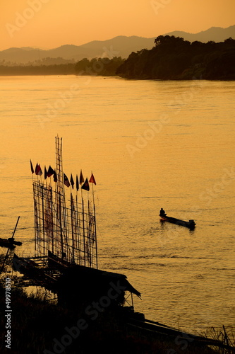 Sunset on the Mea Khong river