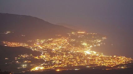 Yalta City view from Ai-Petri mountain.