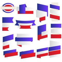Preischilder in französischen Farben