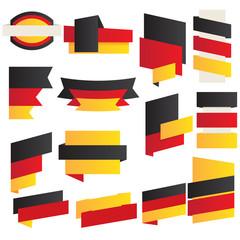 Preischilder in deutschen Farben