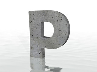 3D render of the text P