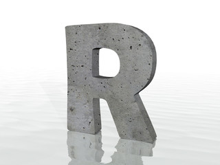 3D render of the text R