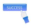 hand cursor click success button