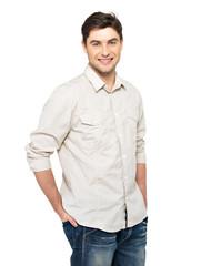 Portrait of happy handsome man in casuals