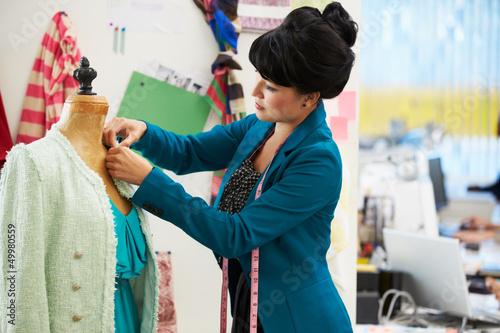 Fashion Designer In Studio