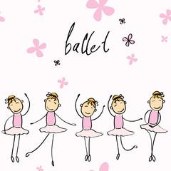 Vector illustration of a girl dancing ballet