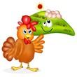 gallina ed uova ruspanti