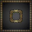 Vintage seamless background with a gold frame in retro style
