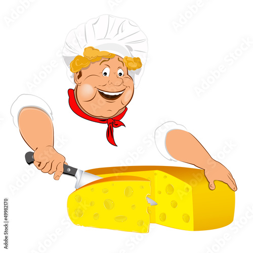 Funny Chef and Natural swiss dairy cheese