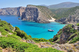 View of Cala Domestica beach, Sardinia, Italy