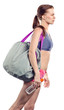 girl with sport bag