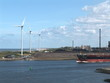 Port Of Ijmuiden- Cargo Ship And Wind Turbines-Time laps