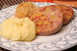 Saumagen mit Kartoffelbrei und Kraut