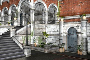 treppen und Balkon