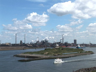 Wind Turbine - Green Energy - The Industrial Port Of Ijmuiden,Th